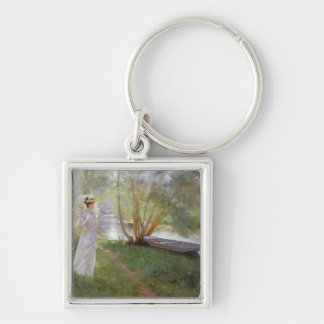 A walk by the river, 1890 keychain