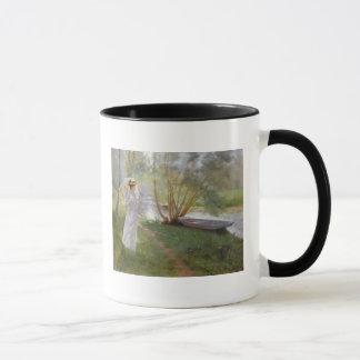 A walk by the river, 1890 mug