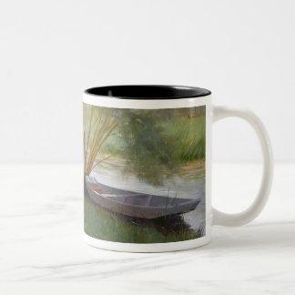 A walk by the river, 1890 Two-Tone coffee mug