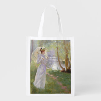 A walk by the river, 1890 grocery bag