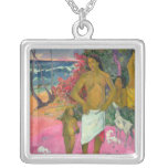A Walk by the Sea, 1902 Square Pendant Necklace