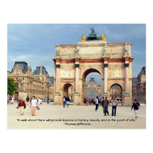 A Walk in Paris Postcard