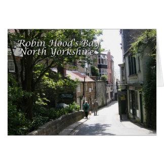 A Walk In Robin Hoods Bay Card
