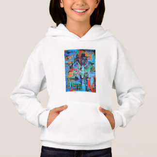A Walk In The Forest-Abstract Art Brushstrokes Hoodie
