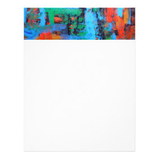 A Walk In The Forest-Abstract Art Brushstrokes Letterhead
