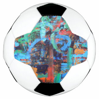A Walk In The Forest - Abstract Art Brushstrokes Soccer Ball
