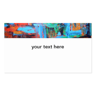 A Walk In The Forest - Abstract Art Business Cards
