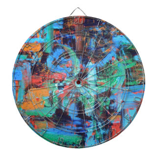 A Walk In The Forest - Abstract Art Dartboard With Darts