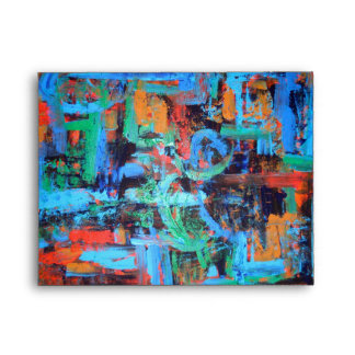A Walk In The Forest - Abstract Art Envelope