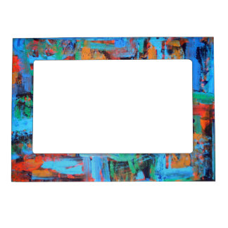 A Walk In The Forest - Abstract Art Magnetic Picture Frame