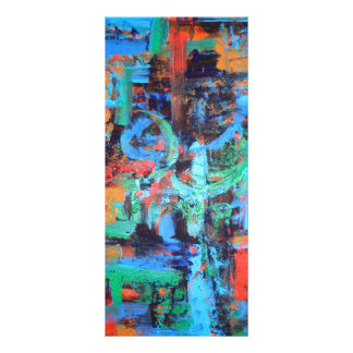 A Walk In The Forest - Abstract Art Rack Card