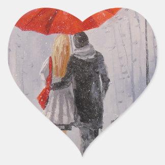 A walk in the Park Heart Sticker
