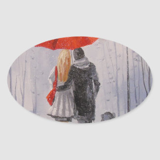 A walk in the Park Oval Sticker