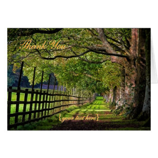 A Walk In The Park - Thank You Card