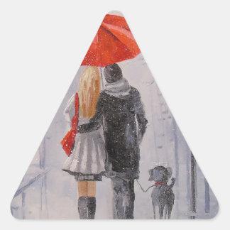 A walk in the Park Triangle Sticker