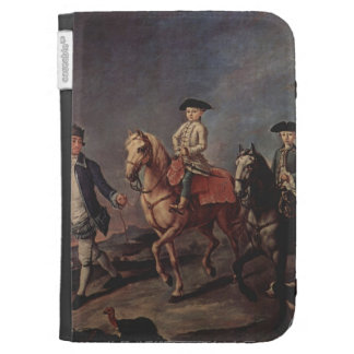 A Walk On Horseback by Pietro Longhi Case For Kindle
