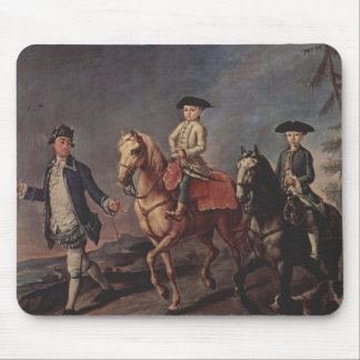 A Walk On Horseback by Pietro Longhi Mouse Pads