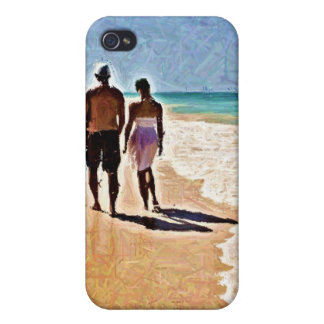 A Walk on the Beach iPhone 4 Case