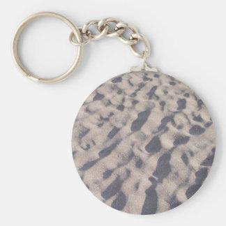 A Walk on the Beach Sand Design Basic Round Button Keychain