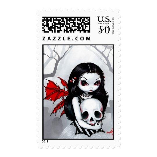 """A Walk Through the Cemetery"" Stamp"