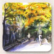 A Walk Through The Park Cork Coaster corkcoaster