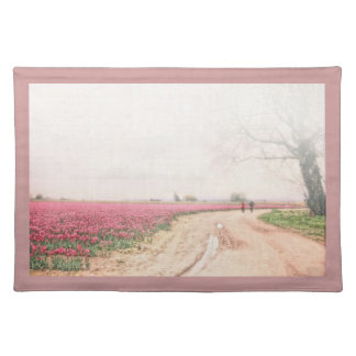 A Walk Through the Tulip Fields American MoJo Plac Cloth Placemat