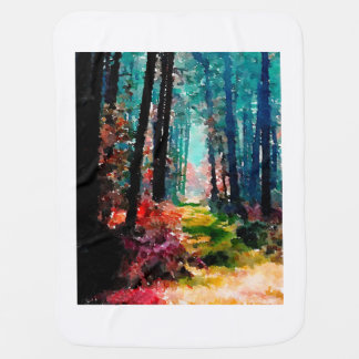 A Walk Through the Woods Baby Blankets