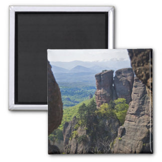 A walk throught Belogradchik Castle Ruins 2 Inch Square Magnet