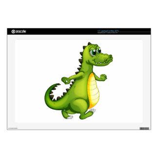 A walking crocodile laptop decal