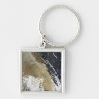 A wall of dust stretched from northern Queensla Silver-Colored Square Keychain