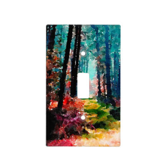 A Wall Through the Woods Light Switch Plate