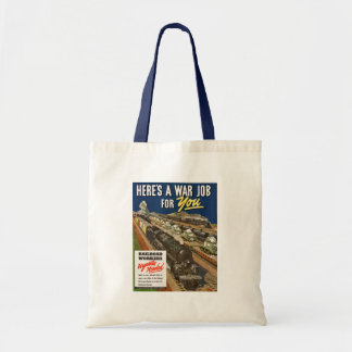 A War Job For You Canvas Bags