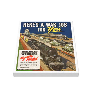 A War Job For You Gallery Wrap Canvas