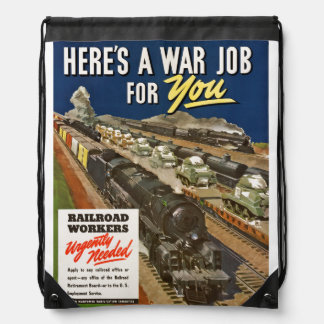 A War Job For You Drawstring Backpack