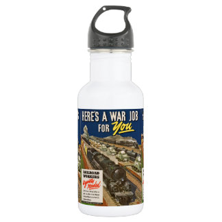 A War Job For You Water Bottle