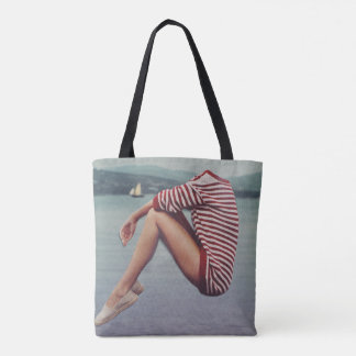 A Warm Sweater on the Harbor Tote Bag