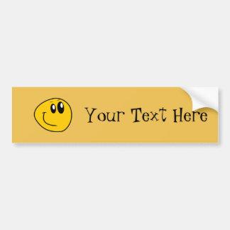 A Warped Yellow Happy Smiley Bumper Sticker