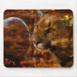 A warrior in Africa Mouse Pad