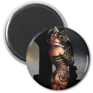 A Warrior Stands Alone 2 Inch Round Magnet