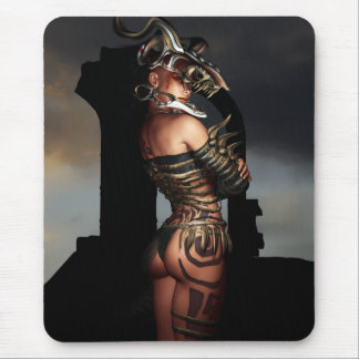 A Warrior Stands Alone Mouse Pad