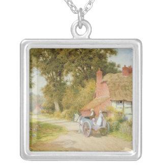A Warwickshire Lane Square Pendant Necklace
