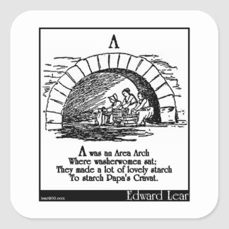 A was an Area Arch Square Sticker