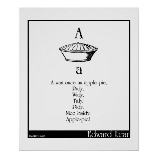 A was once an apple-pie poster