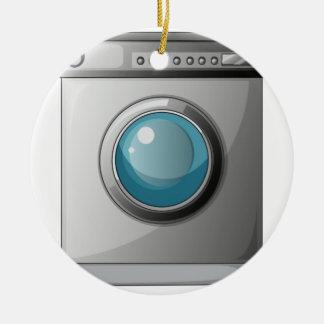 A washing machine ceramic ornament