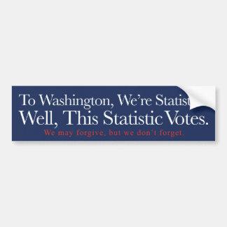 A Washington, somos estadísticas Pegatina Para Auto