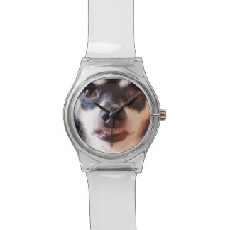A Watch That Watches You! Clear Retro Lucite Watch Watch