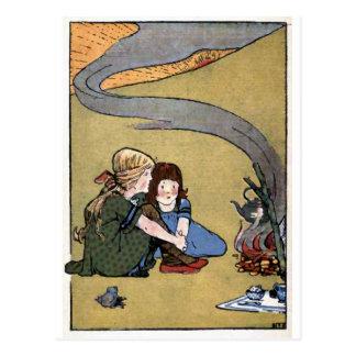 """ A Watched Kettle Never Boils"" Vintage Postcard"
