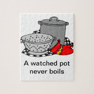 A Watched Pot Never Boils Cooking Pot & Strainer Puzzles