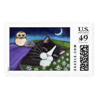 A Watchful Eye | Fantasy Cat Art Postage