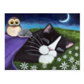 A Watchful Eye | Fantasy Tuxedo Cat Art Postcard